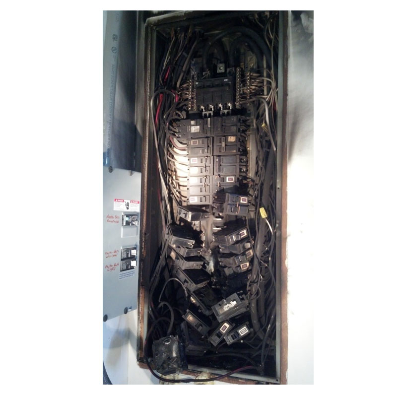 Burned Panel